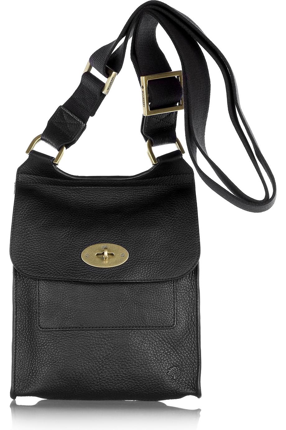 c97450cc3060 Lyst - Mulberry Antony Leather Crossbody Bag in Black
