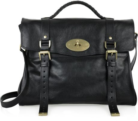 Mulberry Oversized Alexa Leather Bag in Purple (black)