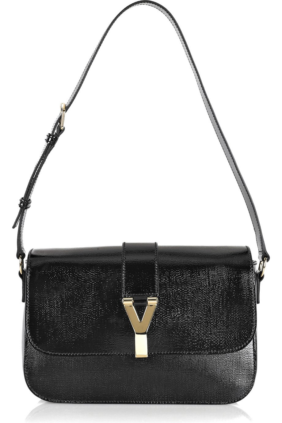 Saint laurent Chyc Large Flap Shoulder Bag in Black | Lyst