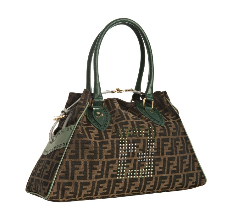 a8f50c966ca8 ... coupon for lyst fendi dark green zucca canvas medium bag de jour in  green e250c 217b6