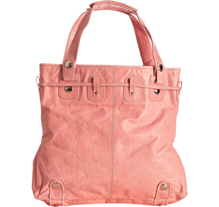 bf34271603f9 Lyst - Gustto Light Pink Leather Parina Drawstring Large Tote in Pink