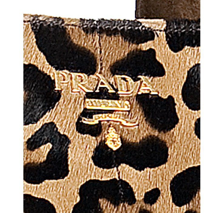 Prada Leopard Printed Pony Hair Medium Tote in Animal (leopard) | Lyst