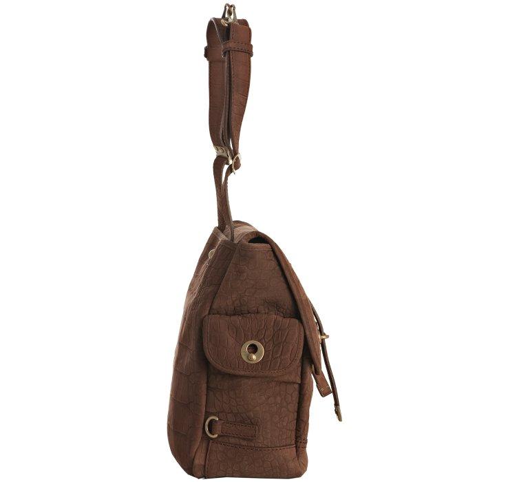 yves saint laurent embossed suede shoulder bag