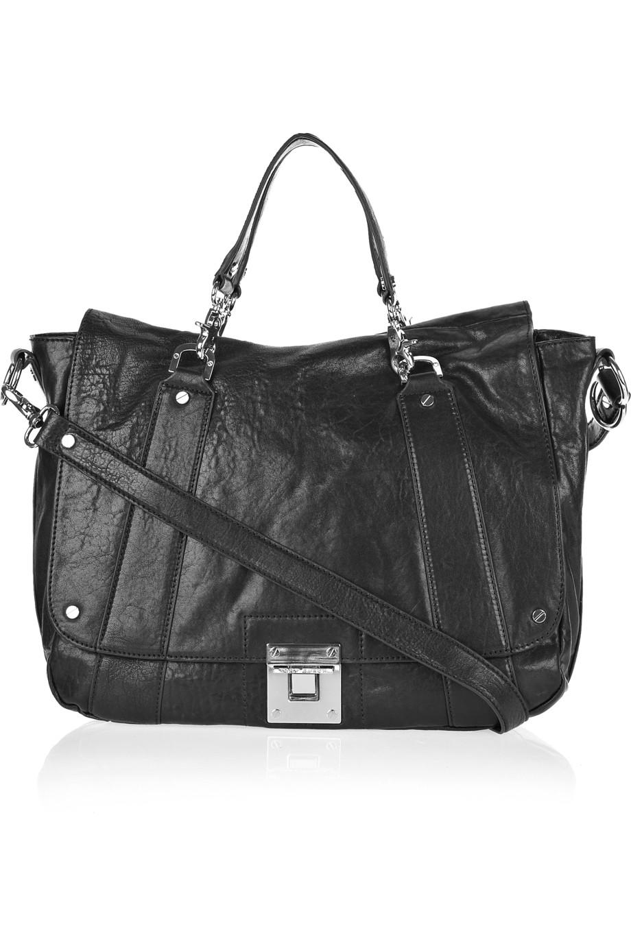 Lyst Tory Burch Dayton Messenger Leather Satchel In Black
