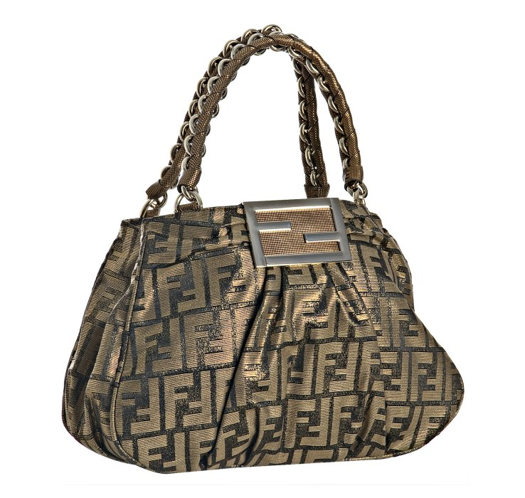 73d79ec793 ... black bcd0e 1e2fc best price fendi tobacco and gold zucca mia small chain  bag in brown lyst 96858 0085b ...