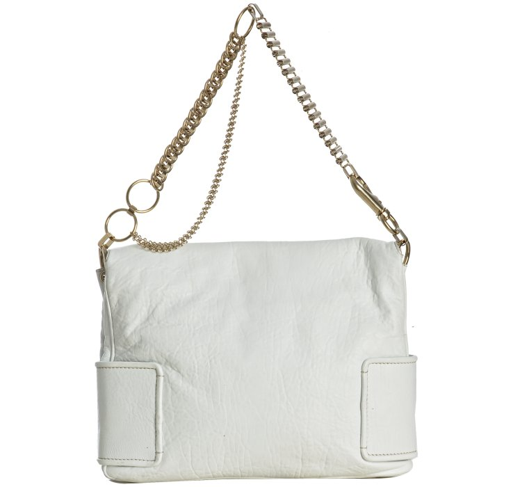 Givenchy White Leather Melancholia Large Chain Shoulder Bag in ...