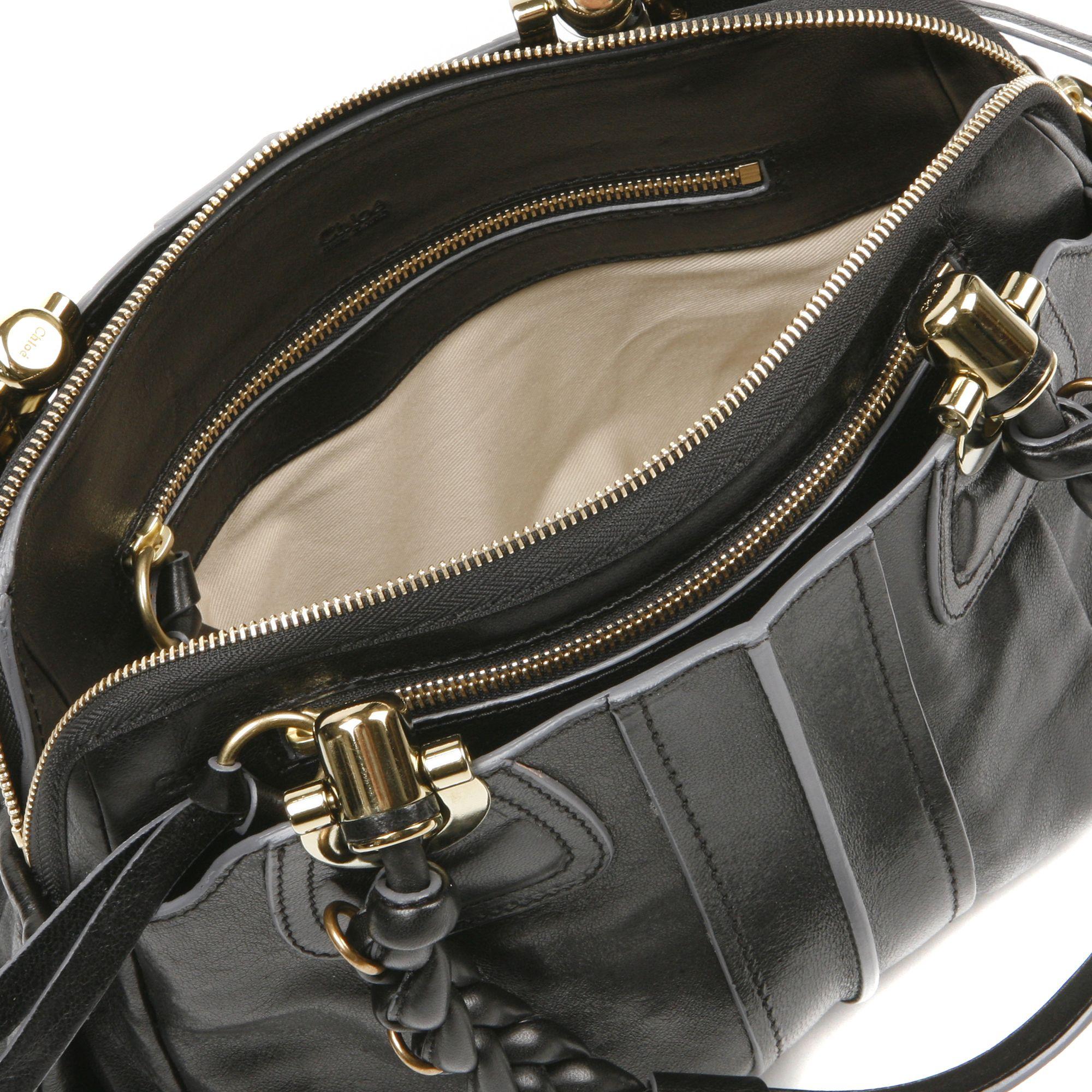 Chlo¨¦ Heloise Lamb Leather Bag in Black | Lyst