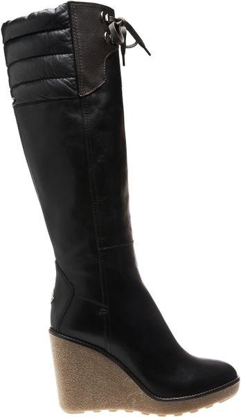 cf336e21c34 Ugg Australia Lesley Knee High Waterproof Leather Wedge Boots
