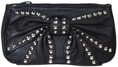 Betsey Johnson Bows Whistles Clutch in Black