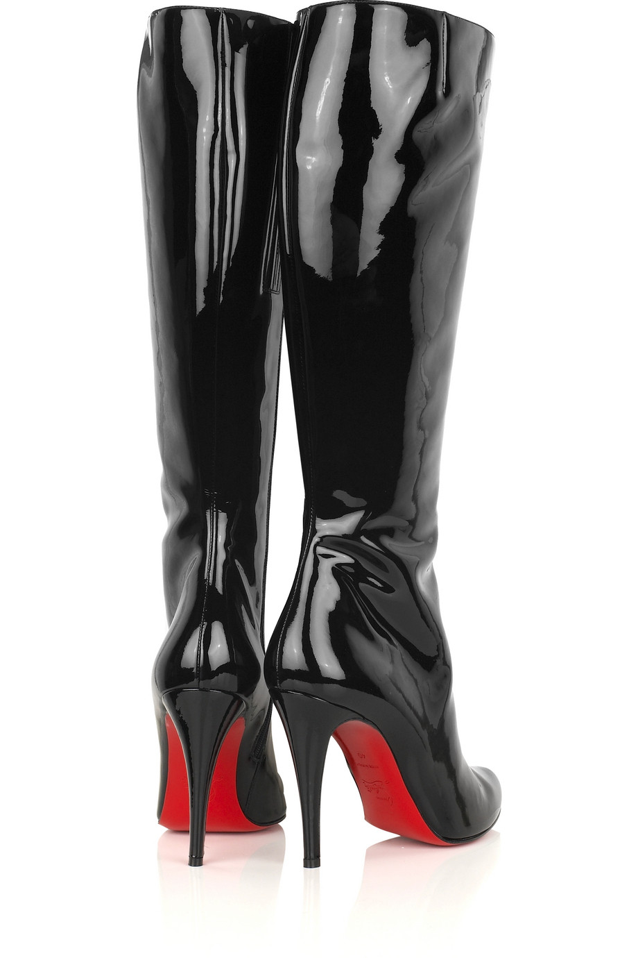 pretty nice b635f 47015 Christian Louboutin Bourge 100 Patent Boots in Black - Lyst