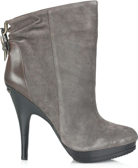 michael michael kors webster suede ankle boots in gray lyst