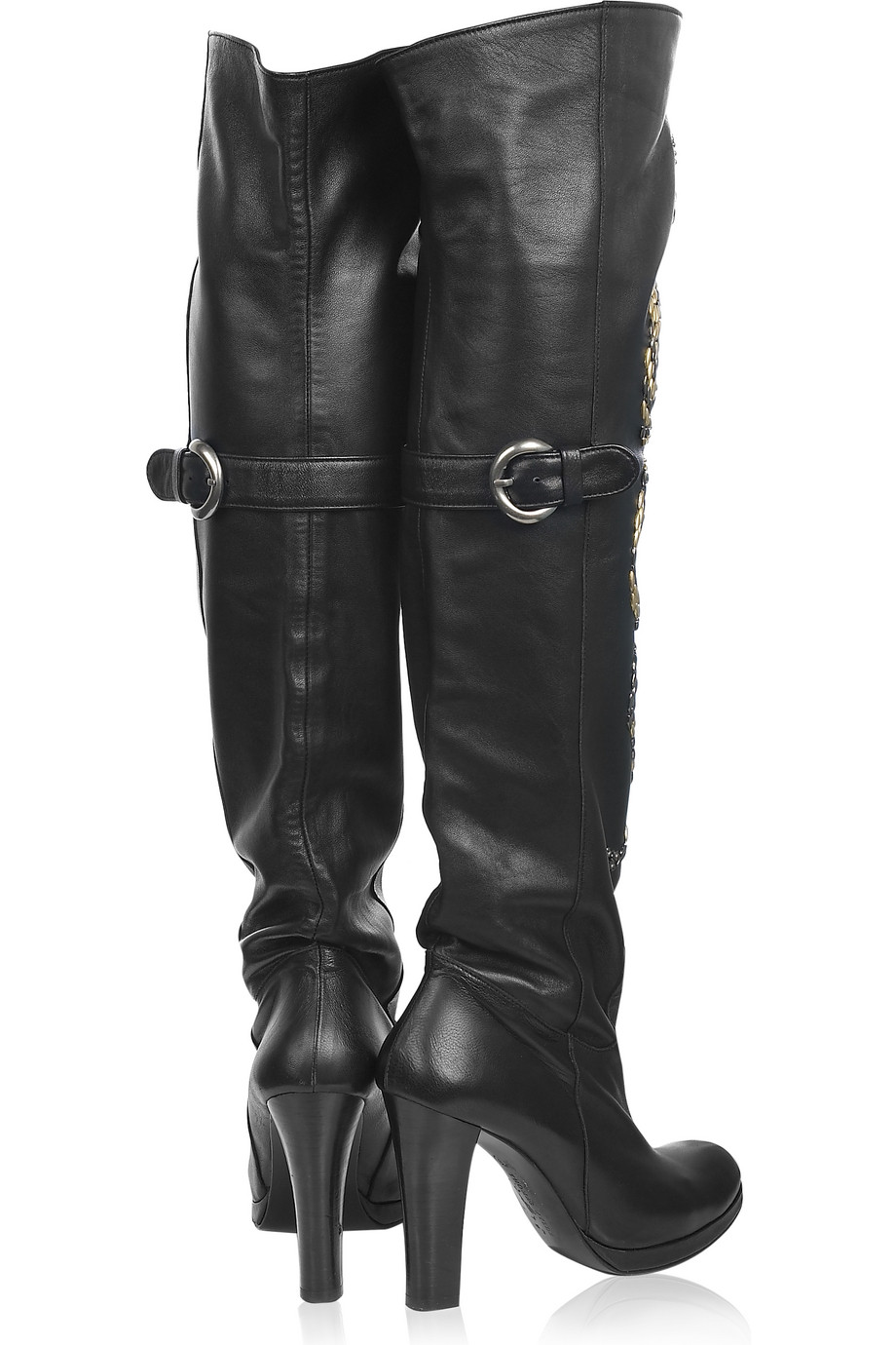 Thomas Wylde Embossed Knee Boots outlet new arrival ON5UsR4G