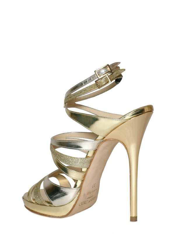 Jimmy Choo Buzz Leather Sandals store sale authentic cheap price release dates authentic Vsw7tya