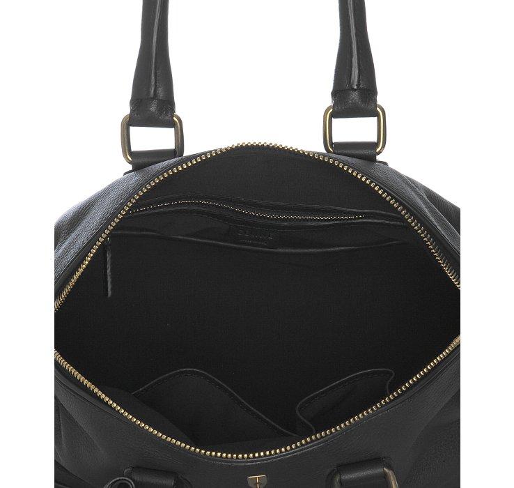 C¨¦line Black Deerskin Padlock Top Handle Bag in Black | Lyst