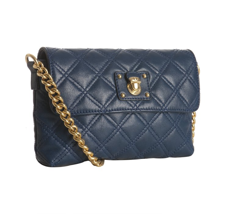 Lyst Marc Jacobs Navy Quilted Leather The Single Flap
