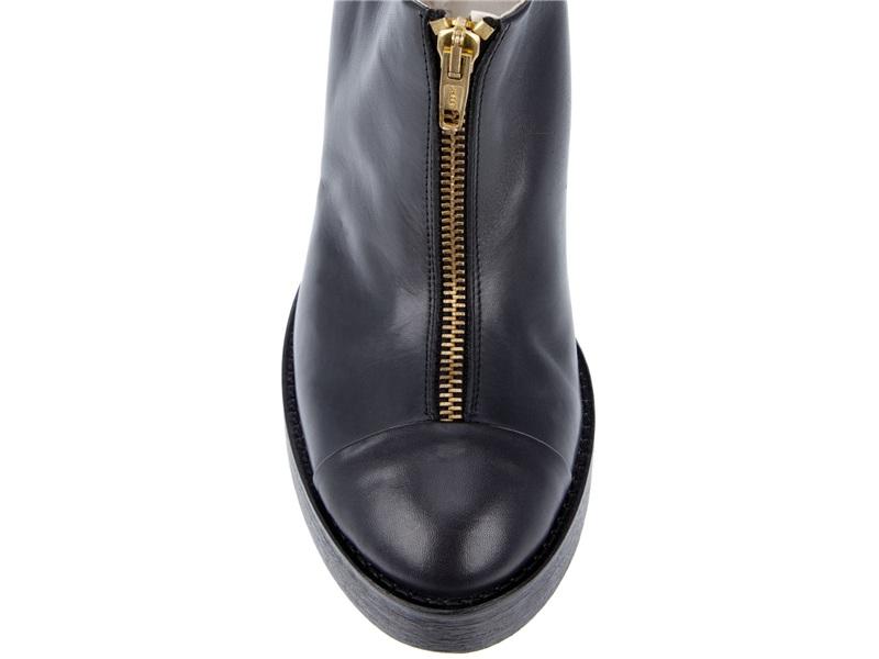 Beau Coops Front Zip Shoe Boot in Black
