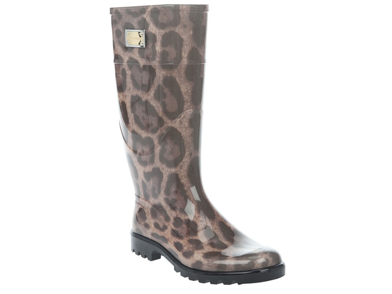 Dolce Amp Gabbana Rubber Boots In Animal Brown Leopard Lyst
