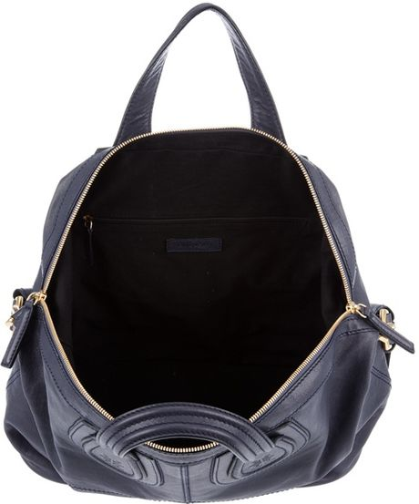 Givenchy Leather Nightingale Handbag in Blue
