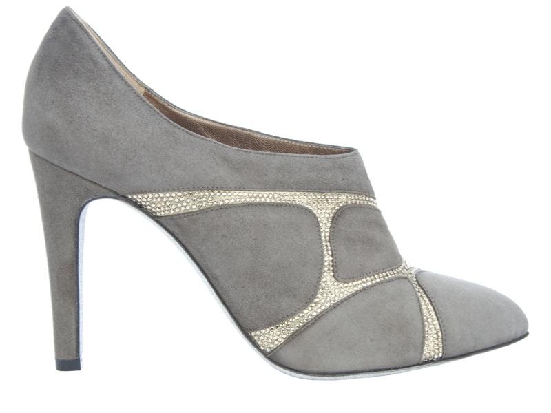 Rene Caovilla Suede Shoe Boots in Grey (Grey)