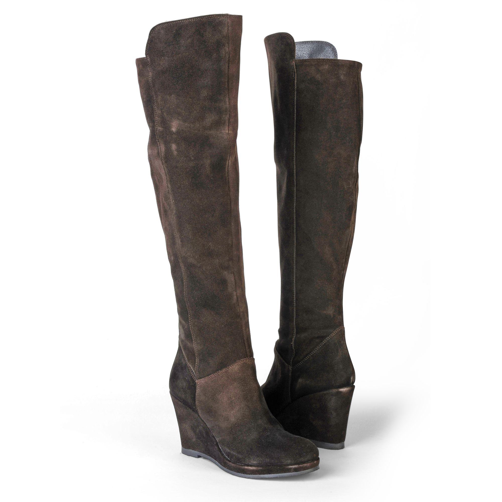 carvela kurt geiger wolfe brown knee high boots in brown