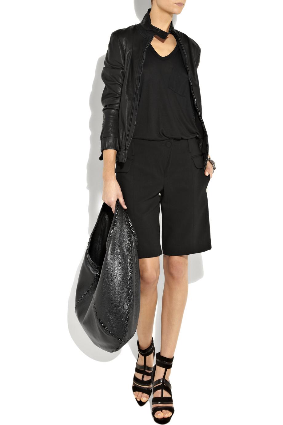 18e711a630 Lyst - Bottega Veneta Large Hobo in Black