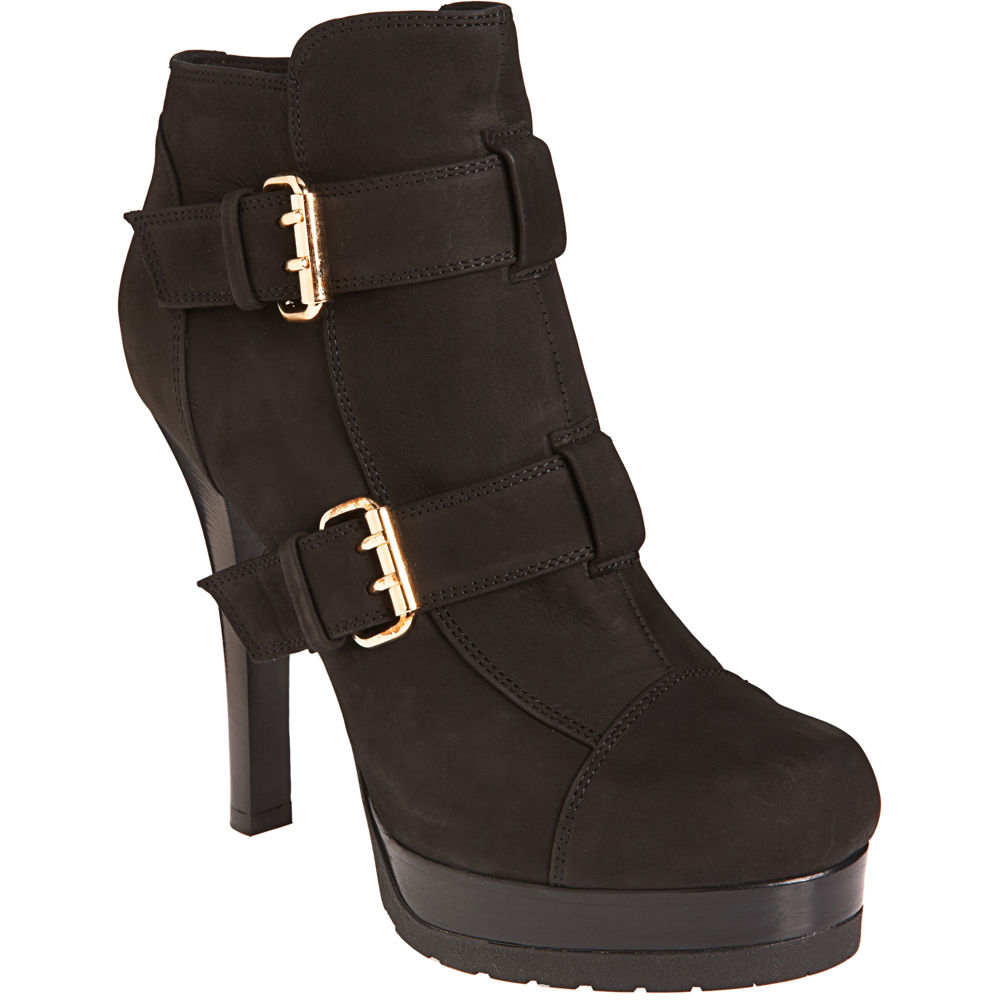 fendi buckle ankle boot in black lyst