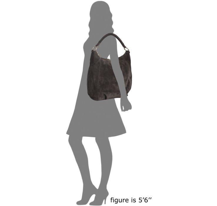 Prada Graphite Suede Scamosciato Hobo Shoulder Bag in Gray ...