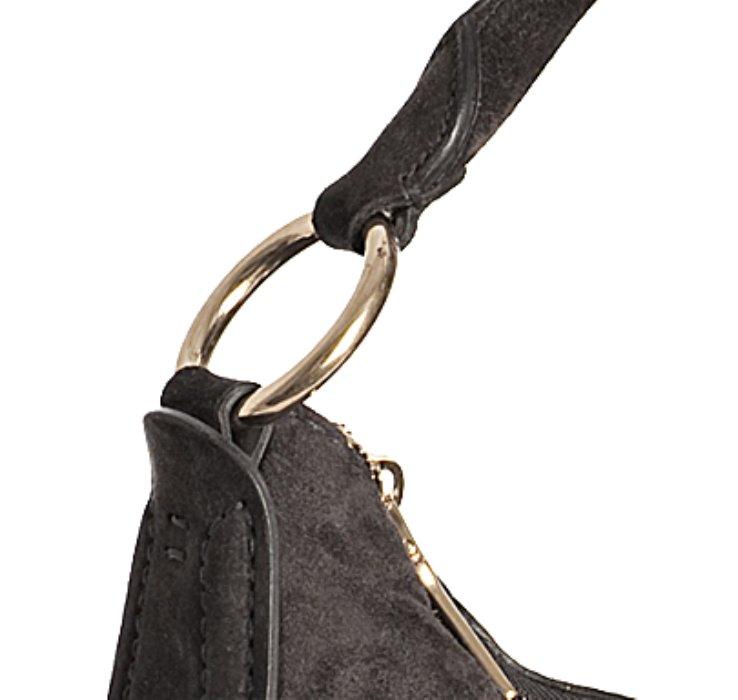 black prada bag nylon - Prada Graphite Suede Scamosciato Hobo Shoulder Bag in Gray ...