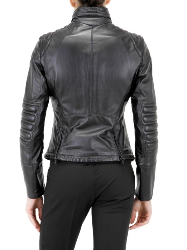 Lyst Tru Trussardi Rain Stop Leather Jacket In Black