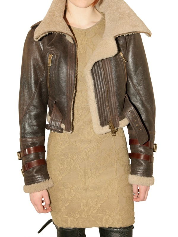 3c7a6f943af Burberry Prorsum Shearling Jacket. Burberry prorsum Shearling Aviator  Leather Jacket in Brown