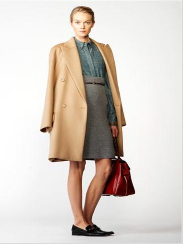 Chloé Wool and Cashmere Coat in Natural | Lyst