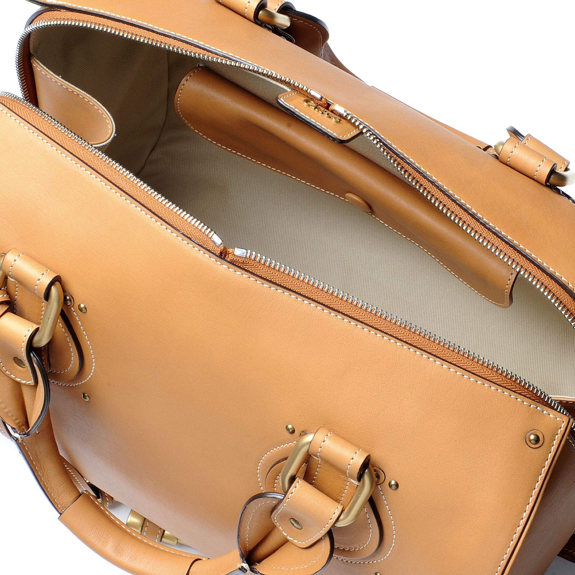 Chlo¨¦ Aurore Bowling Bag in Brown (caramel) | Lyst