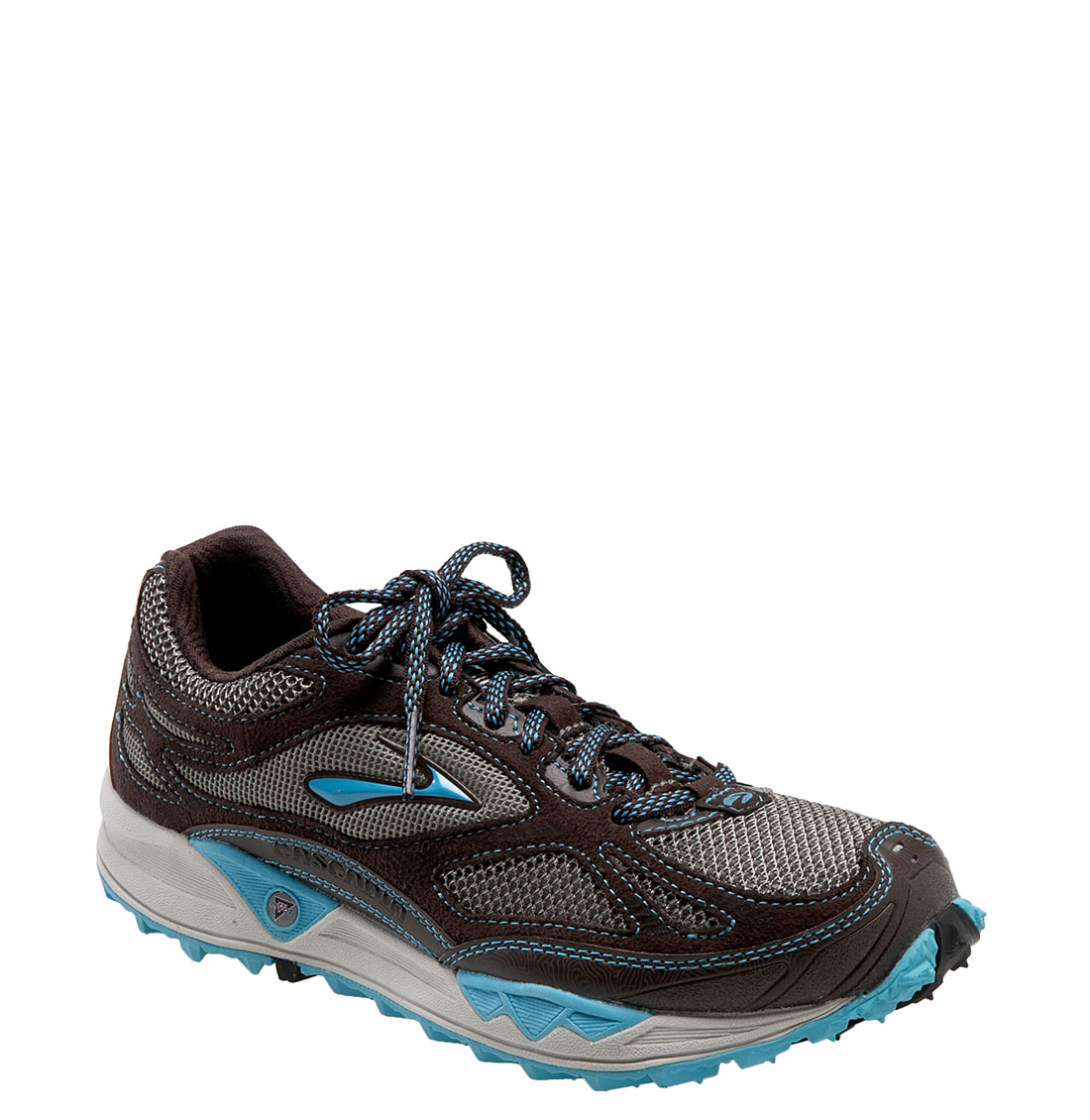 Brooks Cascadia 5 Trail Running Shoe (women) in Gray (laural/blue