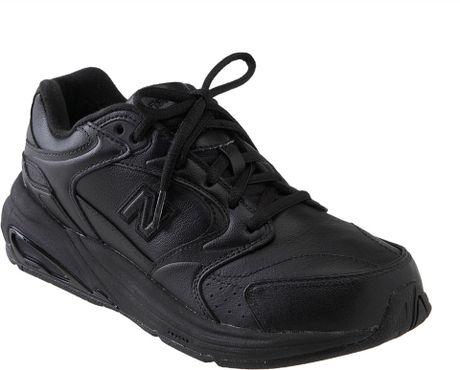 new balance 927 walking shoe in black lyst