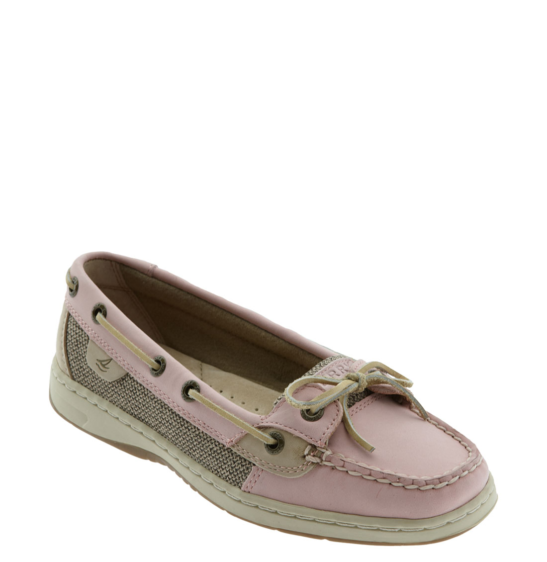 sperry top sider angelfish boat shoe in pink blush oat