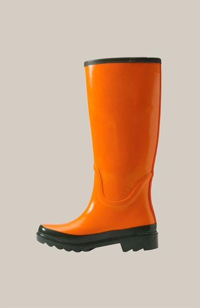 Tory Burch Logo Rain Boot In Orange Lyst