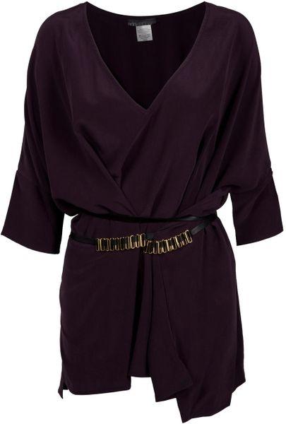 Donna Karan Silk Organza Tunic Blouse 85