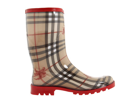 d127876fb27a Lyst - Burberry Mid-calf Rain Boots in Red