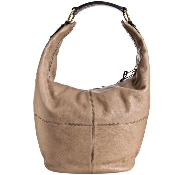 C line taupe pebbled leather bucket hobo bag in brown lyst Sdb chocolat taupe