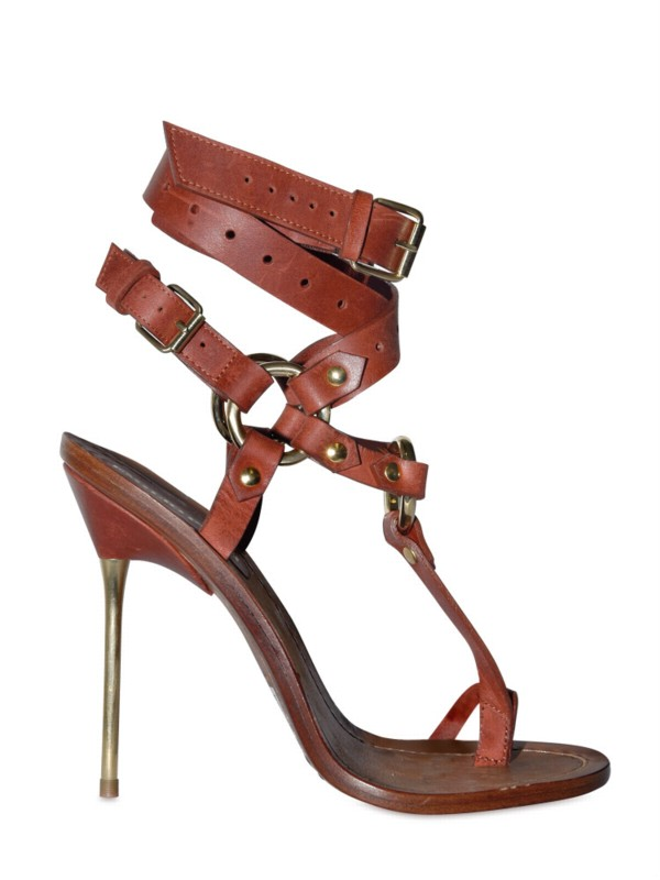 Brown Cross Sandals Ankle 120mm Pucci Criss Emilio Thong dCroexBW