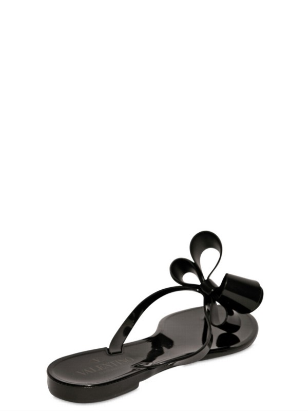 Valentino Couture Bow Jelly Sandals In Black - Lyst-7679