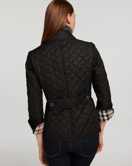Burberry Brit Fitted Quilted Jacket In Black Lyst