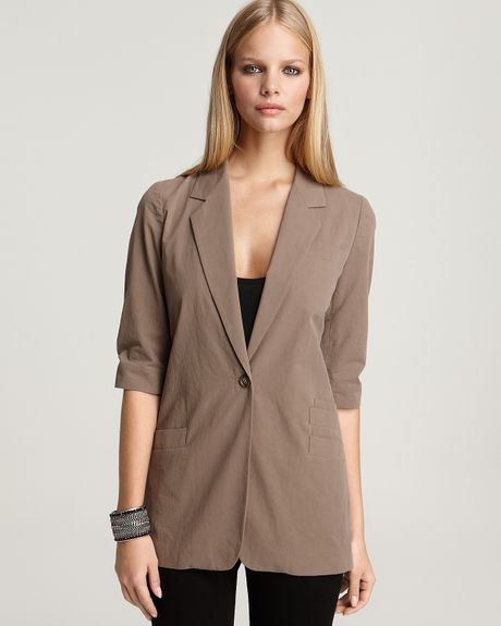 Elizabeth And James Triple Pocket James Blazer in Beige (Truffle)
