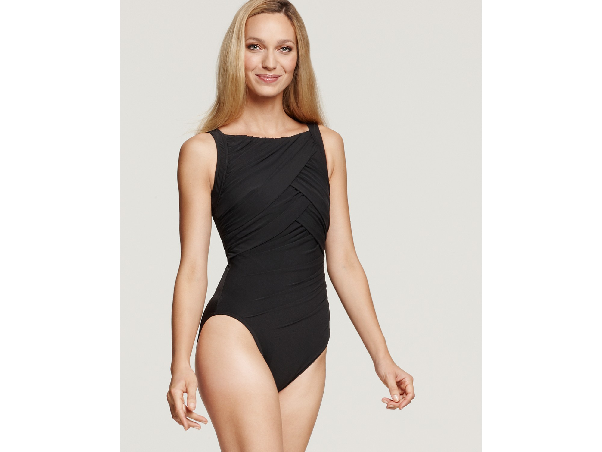 Miraclesuit High Neck Swimsuit In Black Lyst