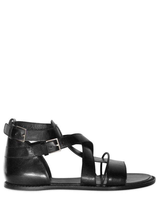 Dior Homme Calfskin Sandals In Black For Men Lyst