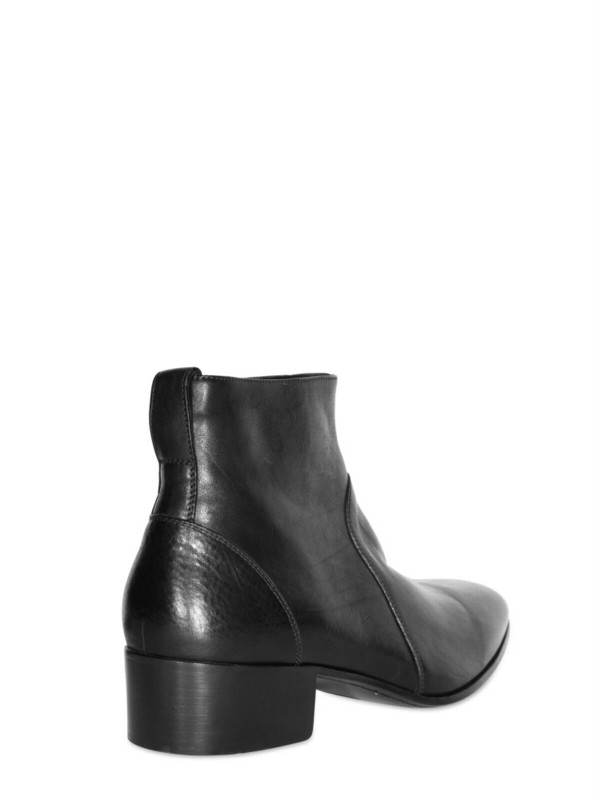 ca39153533ef Lyst - Dior Homme Side Zipped Soft Calfskin Low Boots in Black for Men