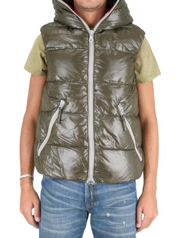Duvetica Aristeo Shiny Nylon Vest Sport Jacket In Green
