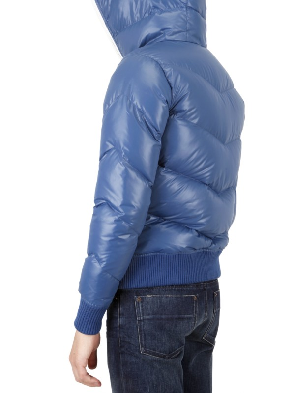 Izzue Quilted Down Feather Sport Jacket In Blue For Men Lyst