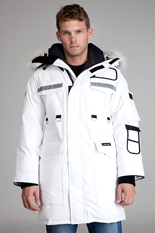 Canada Goose Resolute White Parka for Men - Lyst