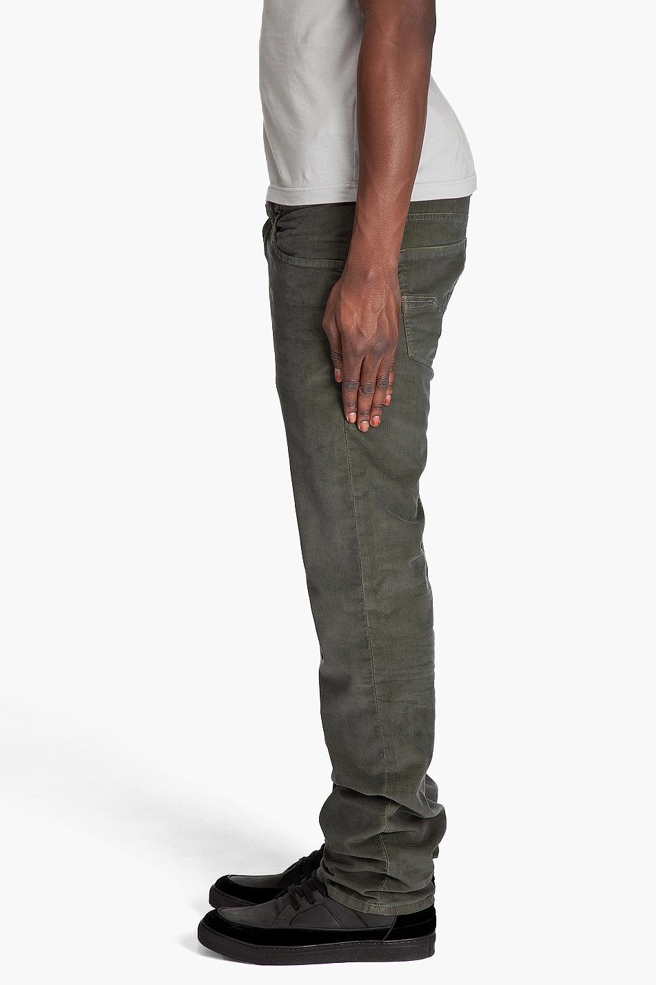 Diesel Larkee Corduroy Pants in Natural for Men | Lyst